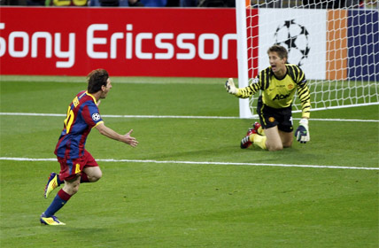 Messi e o Barcelona ganharam a champions league